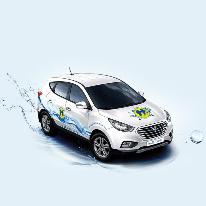 De eerste waterstofauto in de provincie Groningen